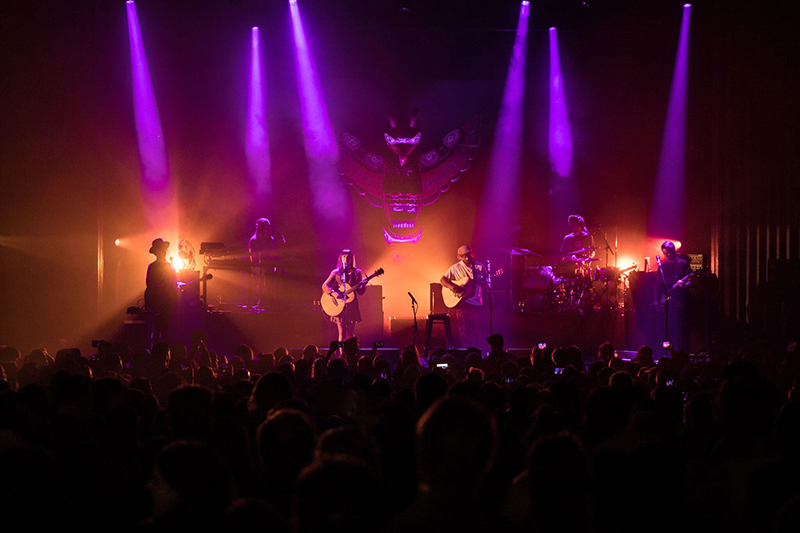 Pictured here - the show at the Enmore Theatre in Sydney on Sept. 26
