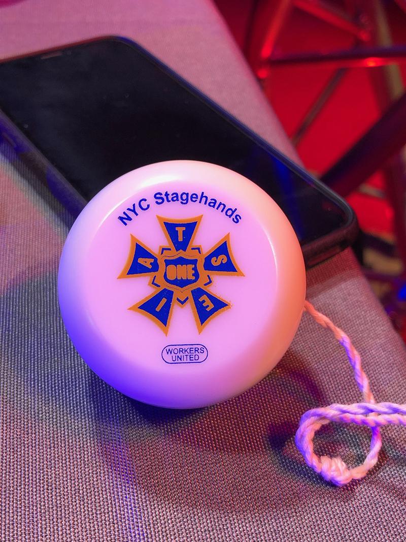 I.A.T.S.E. Local 1 with its ubiquitous yo-yo
