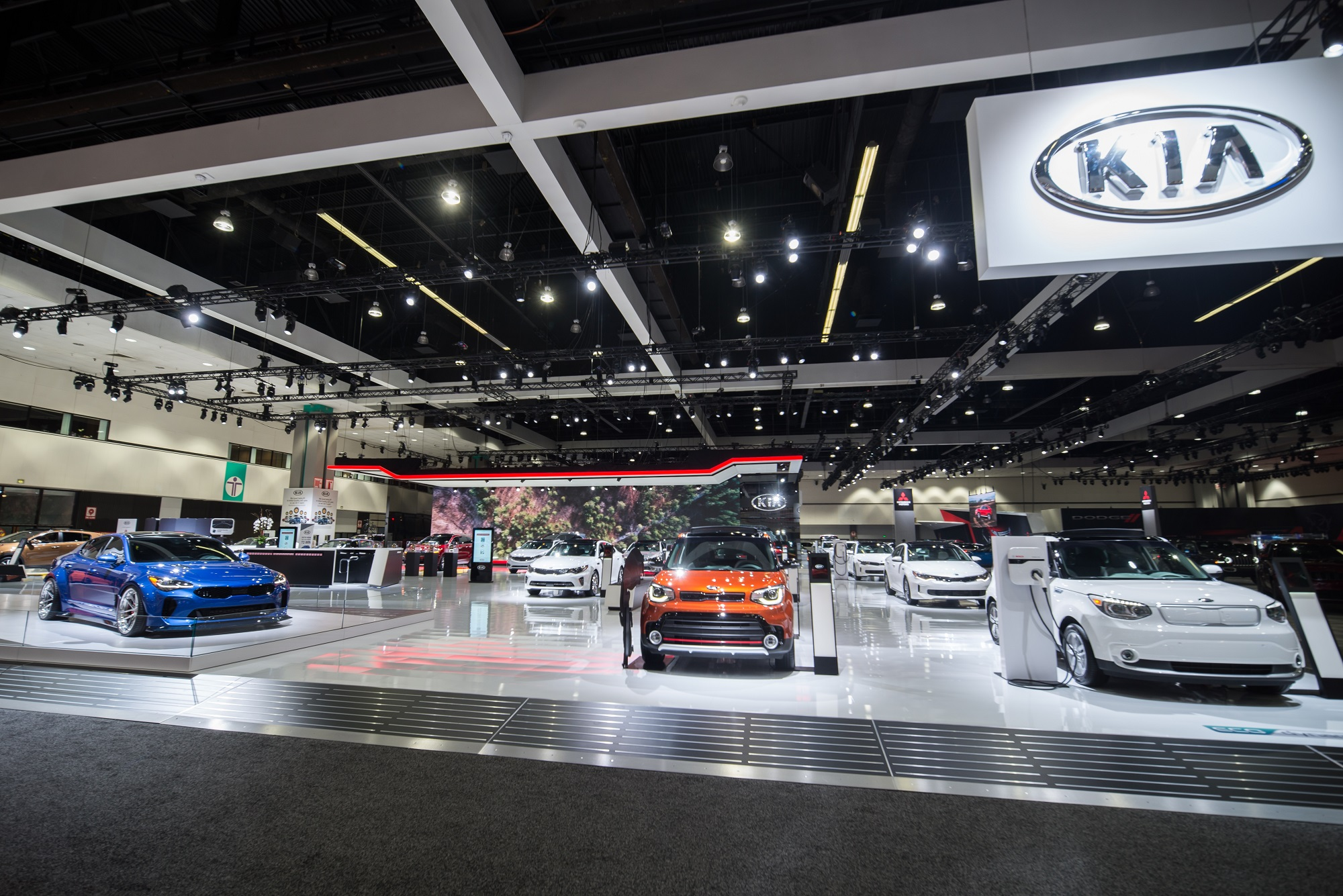 Elation Fuze Wash Highlights Kia Booth At LA Auto Show PLSN - Car show booth
