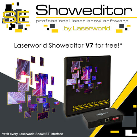 Showeditor now free Software with any Laserworld ShowNET