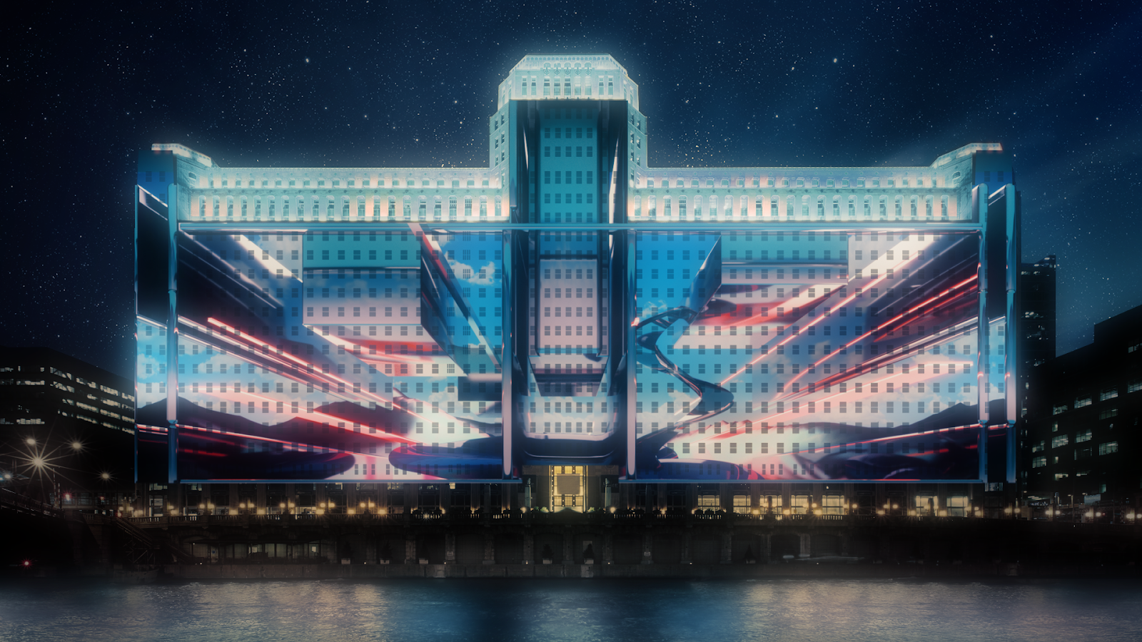 Obscura Behind Large Scale Projection Mapping in Chicago « PLSN on digital glasses, digital glass, digital compositing, digital illustration, digital drawing, digital technology, digital light, digital advertising, digital media, digital energy mapping, digital code, digital rendering,